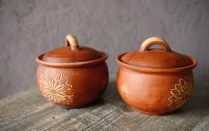 Матовые керамические горшки