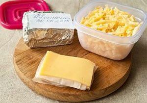 Подготовка сыра для заморозки