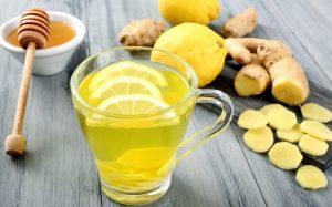 Напиток с лимоном и имбирем