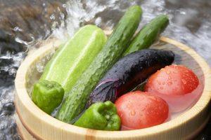 Замачивание овощей в воде