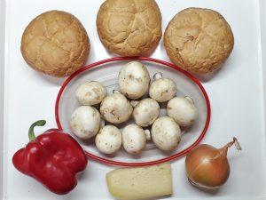 грибная закуска в булочках