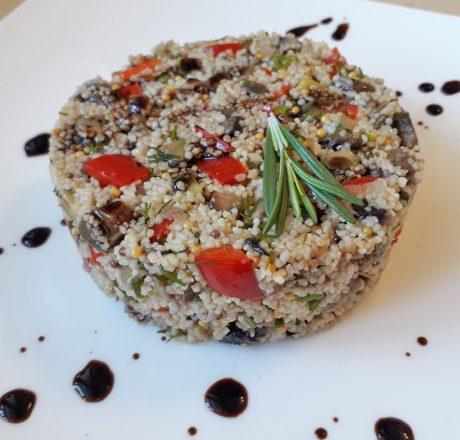 салат-гарнир из кус-куса с грибами