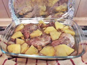 утиные окорочка с ананасом