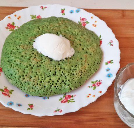 Зеленые панкейки