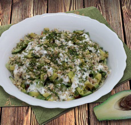 Салат из авокадо с сельдереем