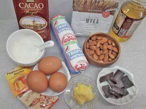 шоколадный кекс с мягким творогом