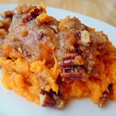 Ромовая запеканка из сладкого картофеля