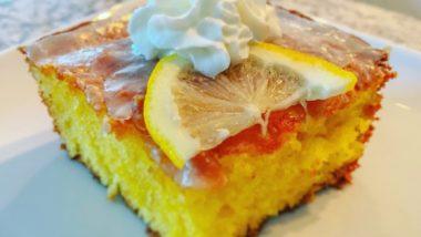 Лимонный заливной пирог II