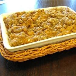 Запеканка из сладкого картофеля с орехами