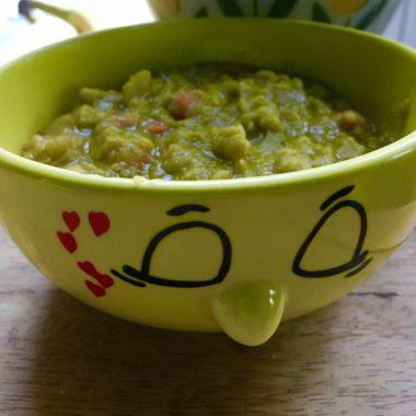 Веганский суп из колотого гороха I