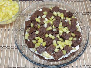 торт Панчо с ананасами и орехом