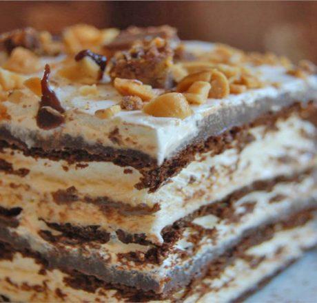 Десерт из мороженого Горячая выдумка