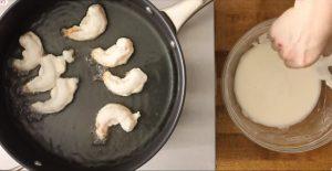 Медовая креветка с грецким орехом