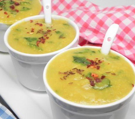 Вегетарианский Палак Мунг Дал