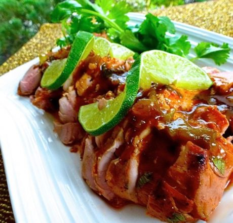 Свиная вырезка под соусом текила-лайм