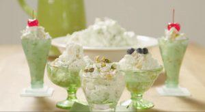 Фисташковый флафф фруктовый салат