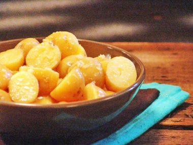 Картофель с имбирным маслом