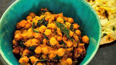 Нут и шпинат в соусе масала