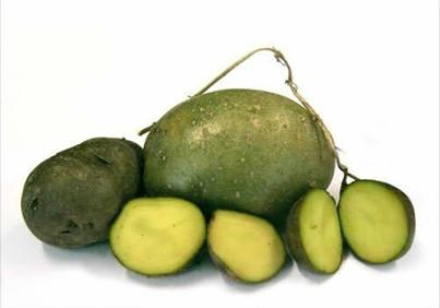 зеленые клубни
