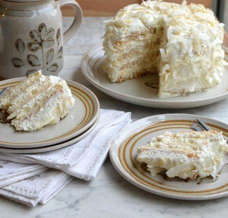 Кокосовый торт Белый ангел