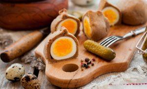 Кокурки – вареные яйца в тесте