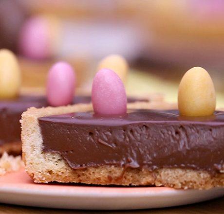 Шоколадные тарталетки к Пасхе