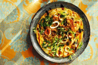 Блин с морепродуктами по-тайски