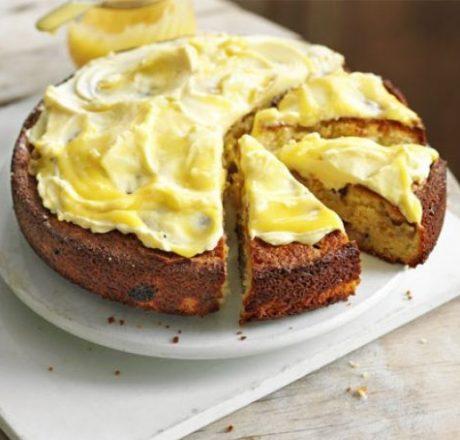 Пирог с ревенем и лимоном